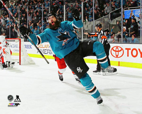 "Brent Burns ""Goal!"" San Jose Sharks Premium NHL Hockey Poster Print - Photofile 16x20"