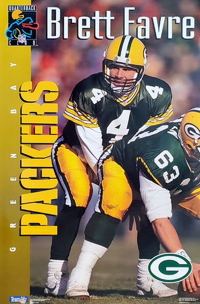 "Brett Favre ""QB Superstar"" Green Bay Packers NFL Action Poster - Costacos Brothers 1993"