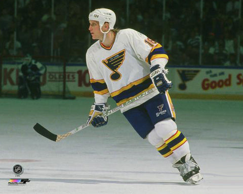 Brett Hull St. Louis Blues Classic (c.1989) Premium Poster Print - Photofile Inc.