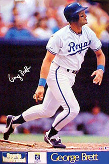 "George Brett ""SI Classic"" Kansas City Royals Poster - Marketcom 1990"