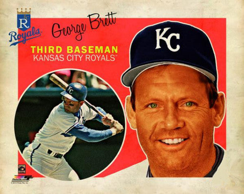 "George Brett ""Retro SuperCard"" Kansas City Royals Premium Poster Print - Photofile 16x20"