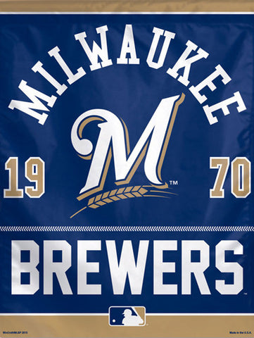 "Milwaukee Brewers Baseball ""1970"" Premium Collector's Wall Banner - Wincraft Inc."
