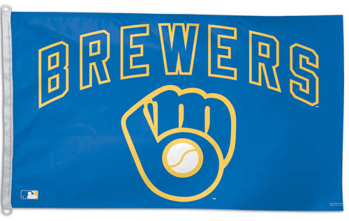 "Milwaukee Brewers ""Glove"" Official MLB Baseball 3'x5' Flag - Wincraft Inc."
