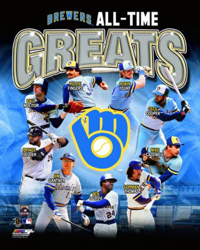 "Milwaukee Brewers ""All-Time Greats"" (9 Legends) Premium Poster Print - Photofile Inc."