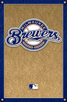 Milwaukee Brewers Official Logo Poster - Costacos Sports
