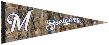 "Milwaukee Brewers ""Backwoods"" Premium Felt Pennant - Wincraft"