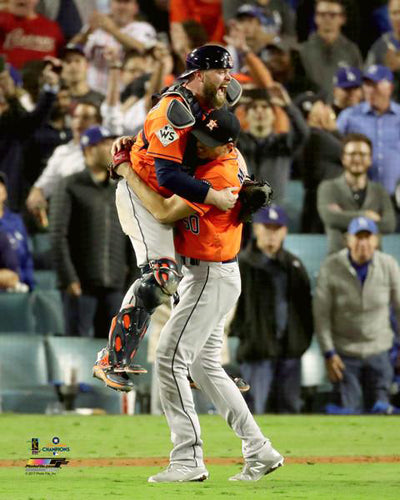 Charlie Morton and Brian McCann 2017 World Series Celebration Houston Astros Premium Poster Print - Photofile 16x20
