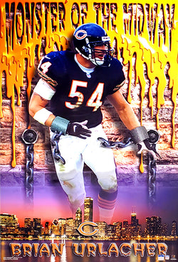 "Brian Urlacher ""Monster of the Midway"" Chicago Bears Poster - Starline 2001"