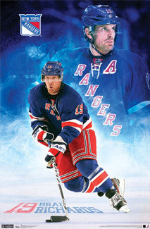 "Brad Richards ""Superstar"" New York Rangers Poster - Costacos 2012"