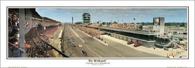 "Indianapolis Motor Speedway ""The Brickyard"" (2004 NASCAR 400) Panoramic Poster Print - Everlasting Images"
