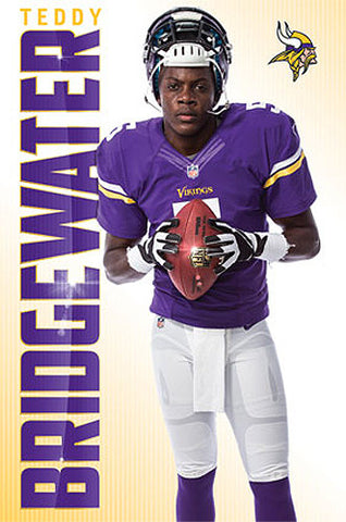 "Teddy Bridgewater ""Bring It"" Minnesota Vikings QB Official NFL Poster - Costacos 2014"