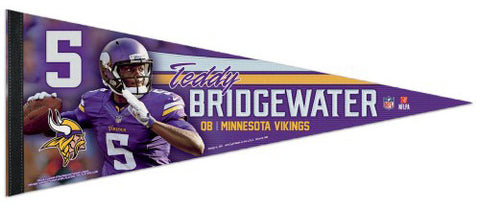 "Teddy Bridgewater ""Superstar"" Minnesota Vikings Premium Felt Collector's Pennant - Wincraft Inc."