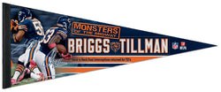 "Lance Briggs and Charles Tillman ""Monsters"" Chicago Bears Premium Felt Pennant - Wincraft"