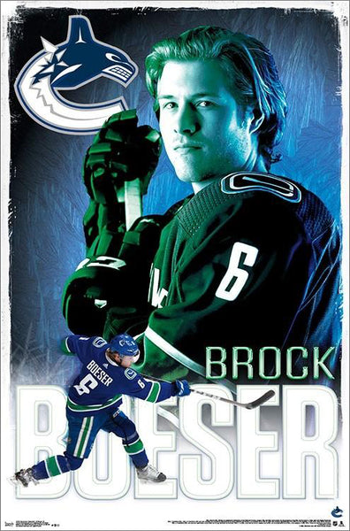 "Brock Boeser ""Superstar"" Vancouver Canucks NHL Hockey Action Poster - Trends International"