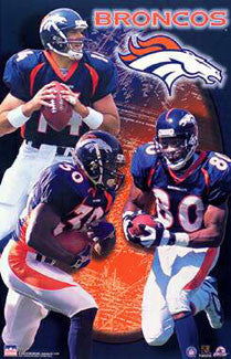 "Denver Broncos ""Superstars 2000"" Poster (Griese, Davis, Smith) - Starline Inc."