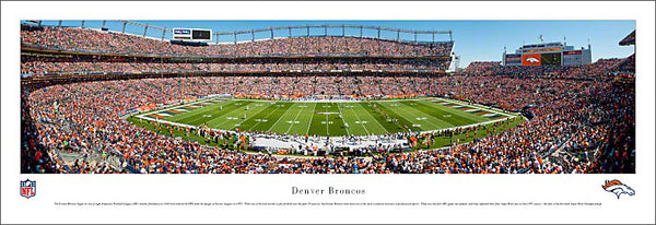Denver Broncos Sports Authority Field Gameday Panoramic Poster Print - Blakeway Worldwide