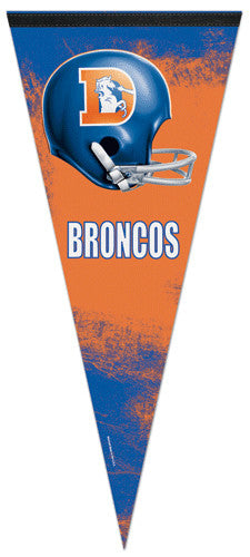 "Denver Broncos ""Orange & Blue"" (1968-96) Extra-Large Premium Felt Pennant"