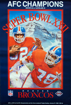 Denver Broncos 1987 AFC Champions (Super Bowl XXII) Commemorative Poster - SEA