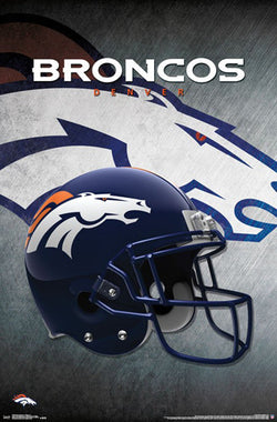 Denver Broncos Official NFL Football Team Helmet Logo Poster - Trends International
