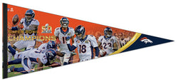 "Denver Broncos Super Bowl 50 ""Moments"" Premium XL Felt Collector's PENNANT"