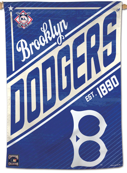 "Brooklyn Dodgers ""1890"" Cooperstown Collection Premium 28x40 Wall Banner - Wincraft Inc."