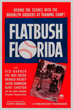 "Brooklyn Dodgers ""Flatbush Florida"" (1950) Baseball Movie Poster Reproduction - Eurographics Inc."