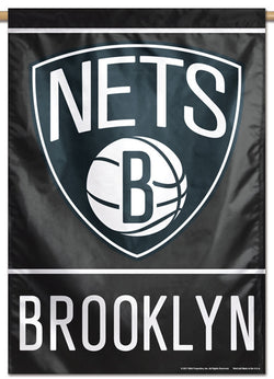 Brooklyn Nets Official NBA Basketball Premium 28x40 Team Logo Wall Banner - Wincraft Inc.