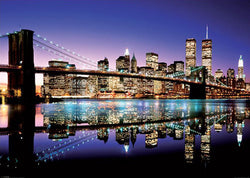 GIANT New York City Brooklyn Bridge Skyline at Night Mural-Sized Poster - Pyramid