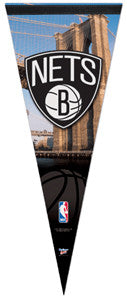 Brooklyn Nets Official NBA Premium Felt Collector's Pennant - Wincraft