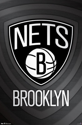 Brooklyn Nets NBA Basketball Team Official Logo Poster - Trends international