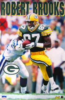 "Robert Brooks ""Action"" Green Bay Packers Poster - Starline 1996"