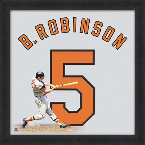 "Brooks Robinson ""Number 5"" Baltimore Orioles MLB FRAMED 20x20 UNIFRAME PRINT - Photofile"