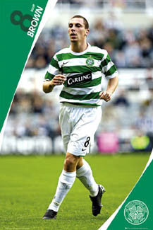 "Scott Brown ""Superstar"" Glasow Celtic FC Poster - GB 2007"