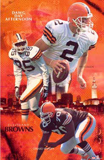 "Cleveland Browns ""Dawg Day Afternoon"" (Couch, Johnson, Warren) Poster - Starline 2002"