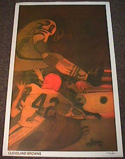 Cleveland Browns NFL Collectors Series Vintage Original Poster (1968)
