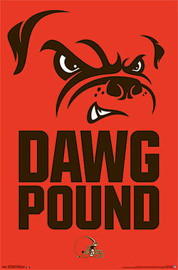 "Cleveland Browns ""Dawg Pound"" Official NFL Wall Poster - Trends International"
