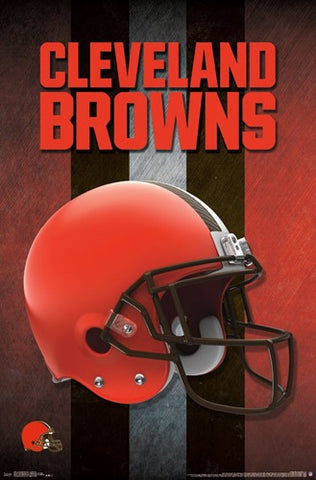 Cleveland Browns Official NFL Football Team Helmet Logo Poster - Trends International