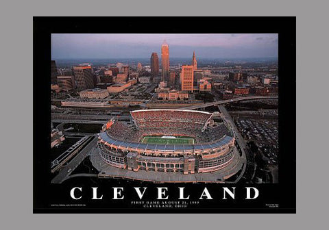 "Cleveland Browns Stadium ""From Above"" Poster Print - Aerial Views"