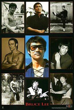 "Bruce Lee ""The Man, The Legend"" Shaolin Martial Arts Poster - Scorpio Posters"