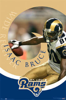 "Isaac Bruce ""In the Zone"" St. Louis Rams Poster - Costacos 2006"