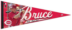 "Jay Bruce ""Reds Action"" Premium Felt Collector's Pennant - Wincraft"