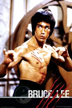 "Bruce Lee ""Slash"" Enter the Dragon Shaolin Martial Arts Poster - Aquarius Images"