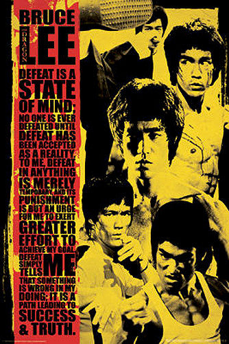"Bruce Lee ""State of Mind"" Shaolin Martial Arts Poster - Aquarius Images"