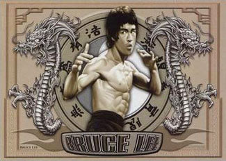 "Bruce Lee ""Twin Dragons"" Shaolin Martial Arts Poster - Pyramid Posters"