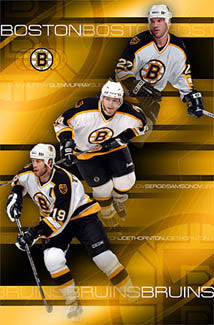 "Boston Bruins ""Top Line"" (Thornton, Samsonov, Murray) Poster - Costacos 2003"