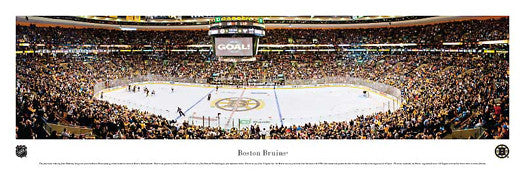 Boston Bruins NHL Game Night Panoramic Poster Print - Blakeway Worldwide