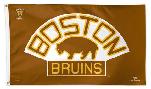 "Boston Bruins ""Brown Bear"" (1926-1932 Style) Official NHL 3'x5' DELUXE FLAG - Wincraft Inc."