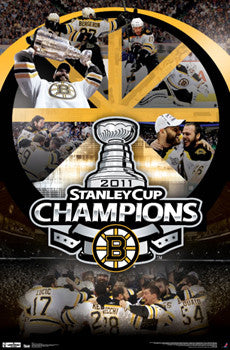 "Boston Bruins 2011 Stanley Cup Champions ""Celebration"" Commemorative Poster - Costacos"