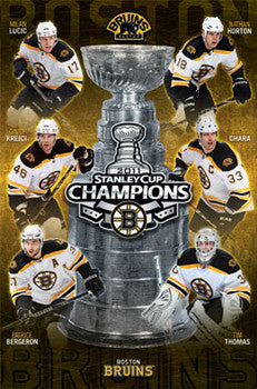 Boston Bruins 2011 Stanley Cup Champions Commemorative Poster - Costacos