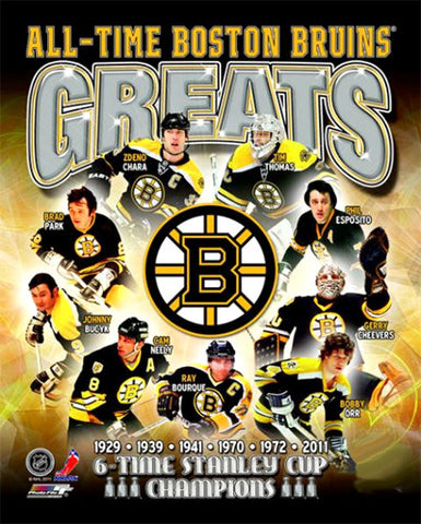 "Boston Bruins ""All-Time Greats"" (9 Legends) Premium Poster Print - Photofile Inc."